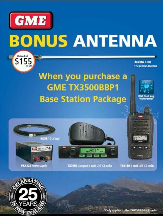 GME TX3500S UHF 80 Channel CB Radio BASE STATION PACK | UHF