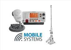 Cobra MR F57 VHF Marine Radio with 1m Antenna & 4-way Mount