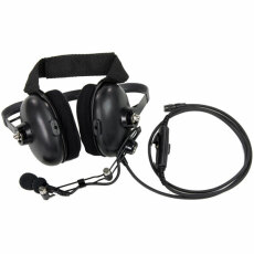 Behind the Head Noise Cancelling Headset with Boom Mic